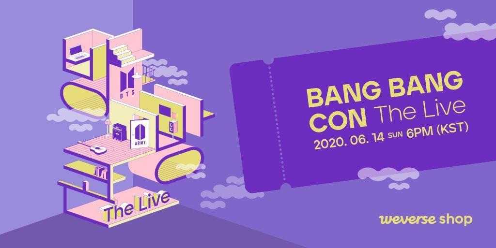 | 지난 6월 14일 열린 방탄소년단의 첫 유료 온라인 콘서트 '방방콘 더 라이브'